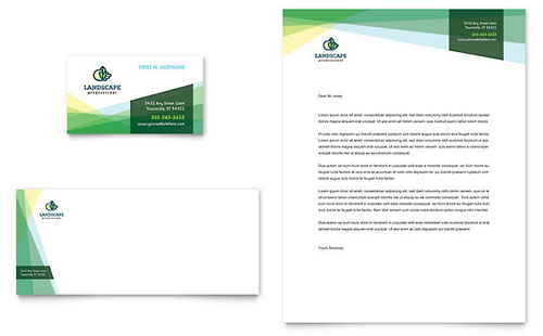 Landscaper Business Card Amp Letterhead Template Design