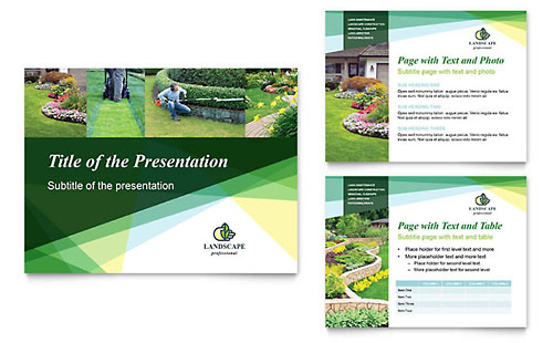 Landscaper PowerPoint Presentation Design Template