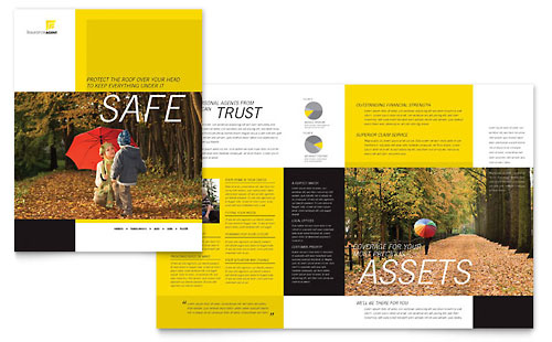 Insurance Agent - Brochure Template Design