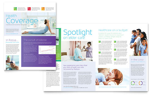 Medical Insurance Newsletter Template Design