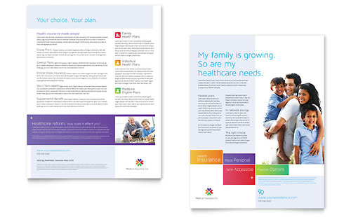 Medical Insurance - Datasheet Design Template