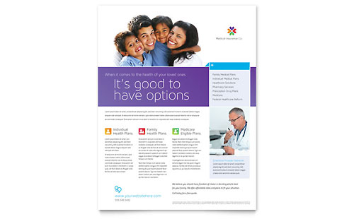 Medical Insurance Flyer Template Design
