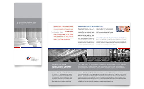 Legal & Government Services - Tri Fold Brochure Template Design