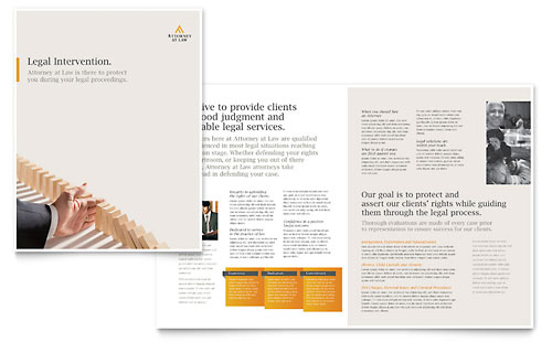 Legal Advocacy Brochure Template Design