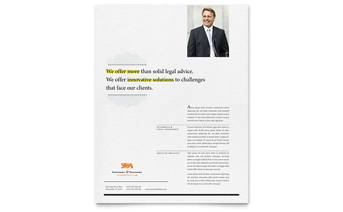 Attorney Flyer Template Design