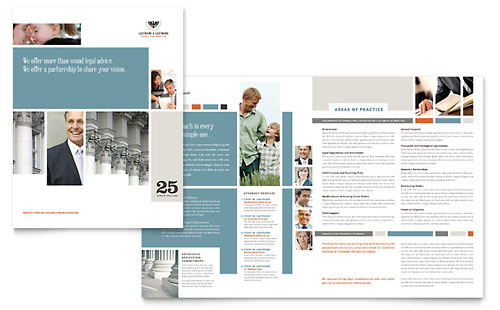 Family Law Attorneys Brochure Template Design