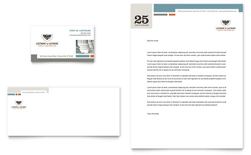 Family Law Attorneys Business Card & Letterhead Template Design