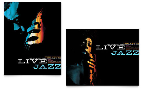 Jazz Music Event Poster Template Design