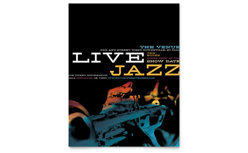 Jazz Music Event Flyer Template Design