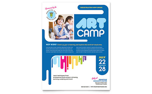Kids Art Camp Flyer Template Design