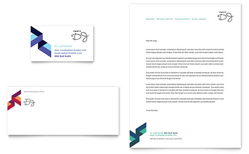 DJ Business Card & Letterhead Template Design