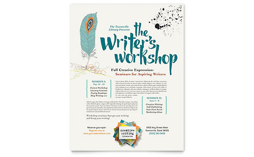 Writer's Workshop Flyer Template Design