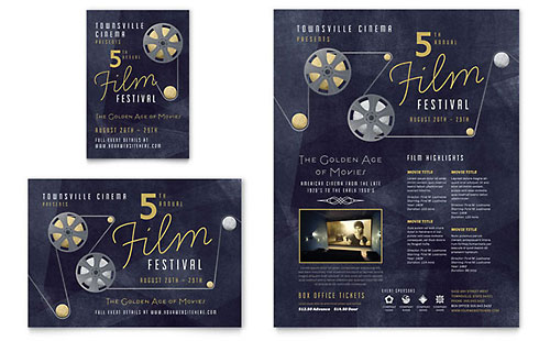 Film Festival Flyer & Ad Template Design