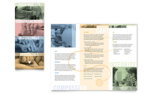 Family Doctor Brochure Template Design