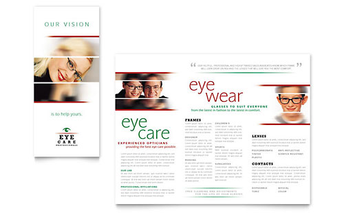 Optometrist & Optician Brochure Template Design