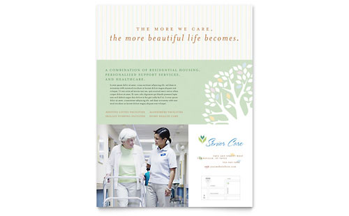 Elder Care & Nursing Home Flyer Template Design