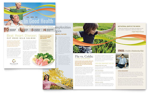 Health Insurance Company - Newsletter Design Template
