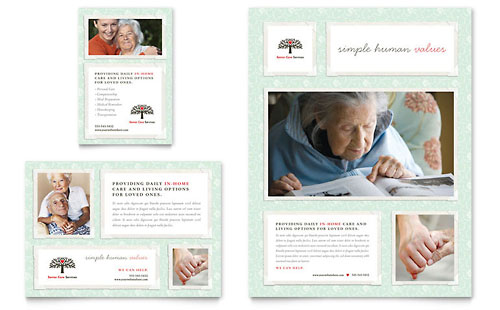 Senior Care Services Flyer & Ad Template Design