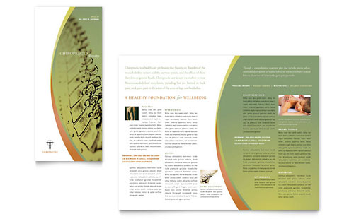 Massage & Chiropractic - Tri Fold Brochure Template Design