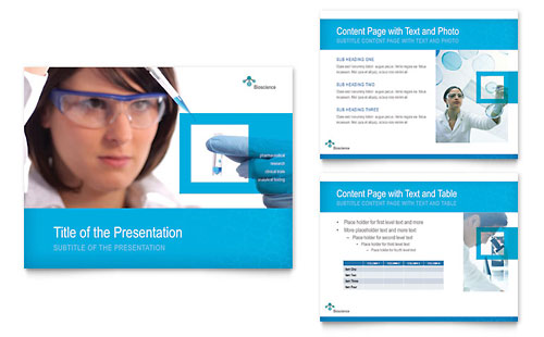 Science & Chemistry - PowerPoint Presentation Template Design