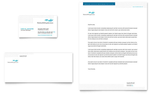Medical Billing & Coding Business Card & Letterhead Template Design
