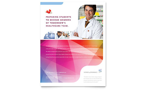 Pharmacy School Flyer Template Design