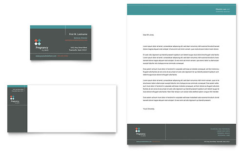 Pregnancy Clinic Business Card & Letterhead Template Design