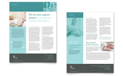 Pregnancy Clinic Datasheet Design Template