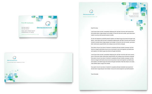 Orthodontist Business Card & Letterhead Template Design