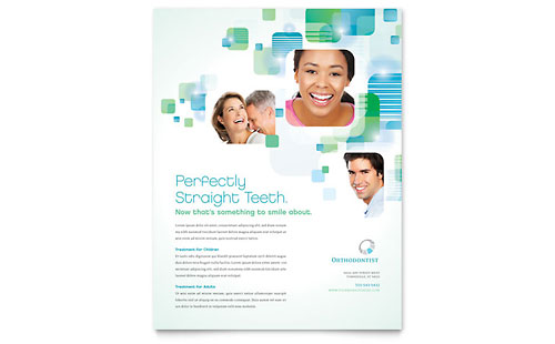 Orthodontist Flyer Template Design