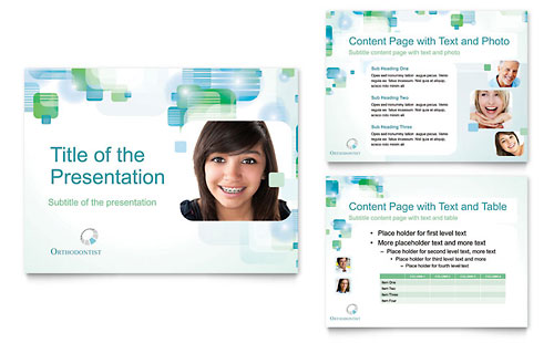 Orthodontist PowerPoint Presentation Template Design