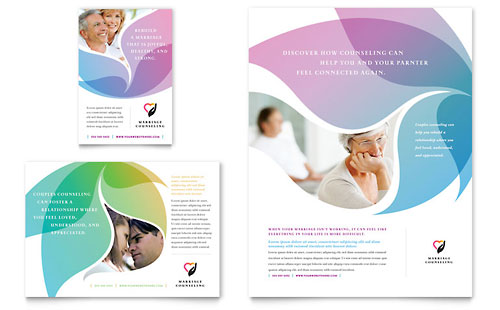 Marriage counseling flyer ad template design for Counseling brochure templates free