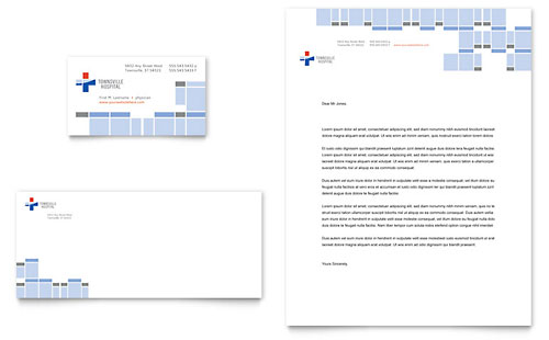 Hospital - Business Card & Letterhead Template Design