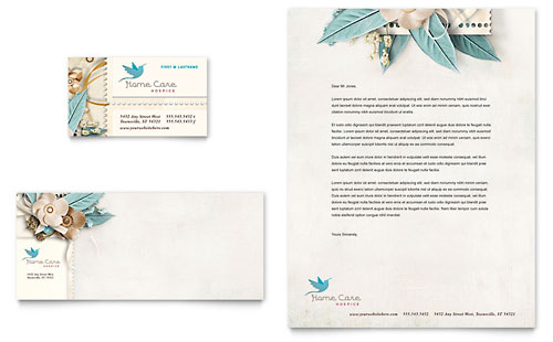 Hospice & Home Care Business Card & Letterhead Template Design