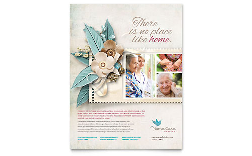 Hospice home care brochure template design for Home care brochure template