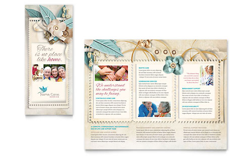 Hospice & Home Care - Tri Fold Brochure Template Design