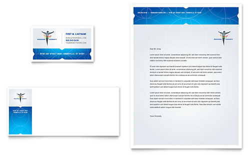 Reflexology & Massage Business Card & Letterhead Template Design