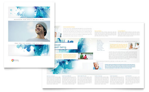 Behavioral counseling tri fold brochure template design for Counseling brochure templates free