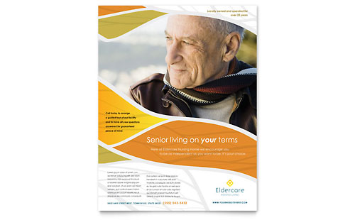 Assisted Living Flyer Template Design
