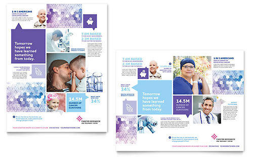 Cancer Treatment Poster Template Design