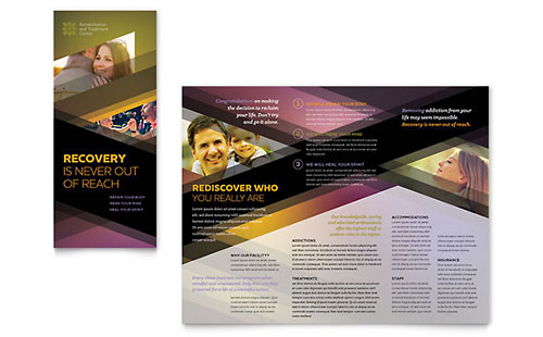 Rehab Center Tri Fold Brochure Template Design