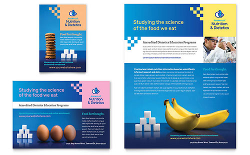 Dietitian Flyer & Ad Template Design