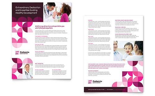 pediatric doctor flyer  u0026 ad template design