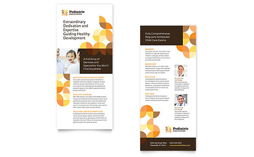 pediatric doctor brochure template design