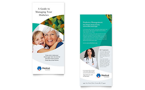 Doctor's Office Rack Card Design Template