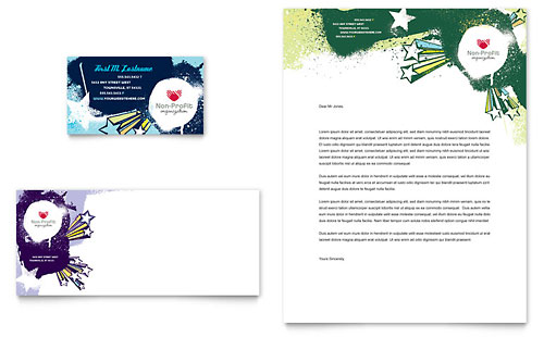 Child Advocates Business Card & Letterhead Template Design