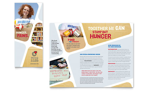 Food Bank Volunteer Brochure Template Design