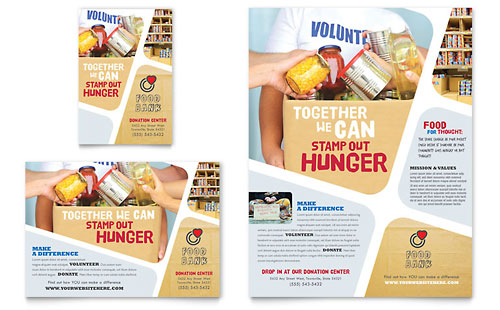 Food Bank Volunteer Flyer & Ad Template Design