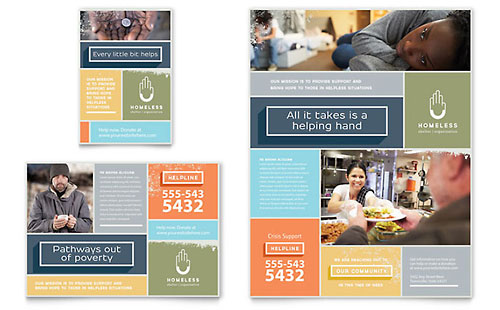 Homeless Shelter Flyer & Ad Template Design