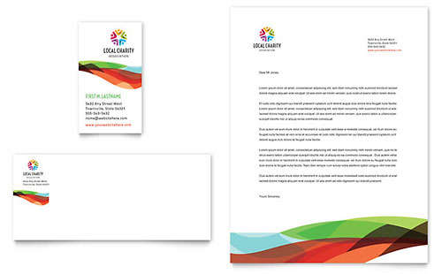 Charity Golf Event - Business Card & Letterhead Design Template
